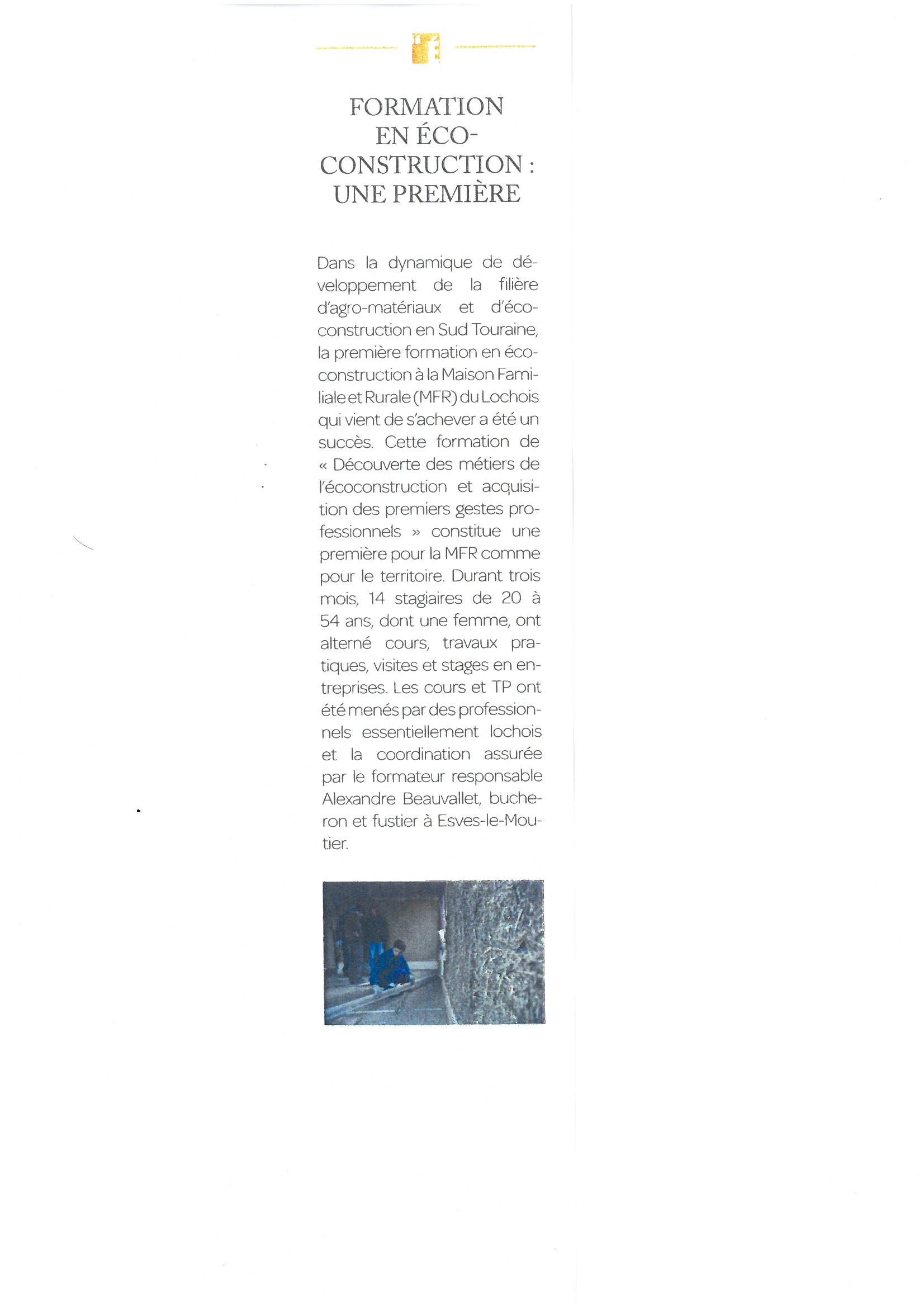 Activit s mfr du lochois for Renaissance lochoise