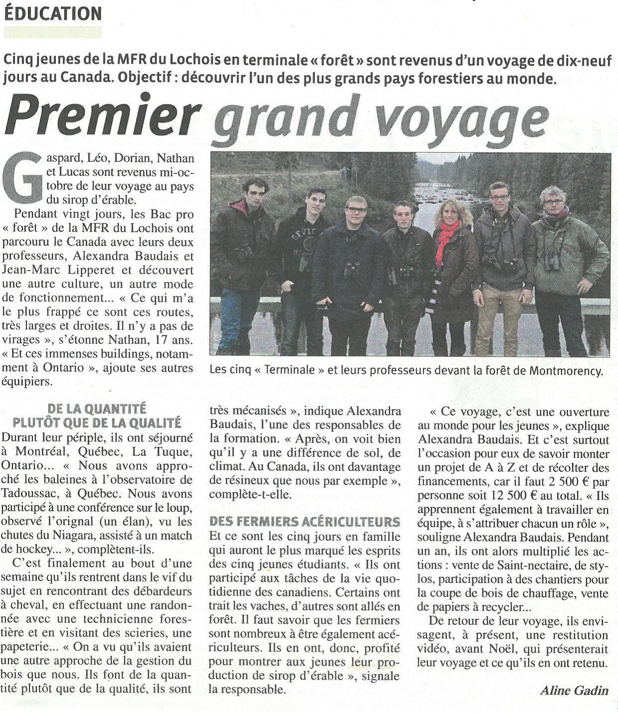 Voyage Canada 2015